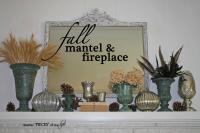 Fall mantel&fireplace
