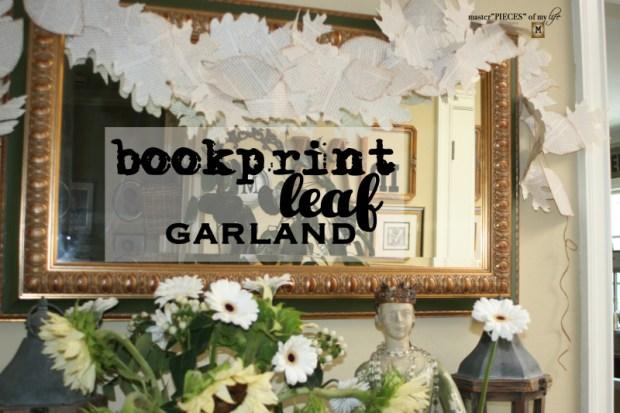 Bookprint leaf garland