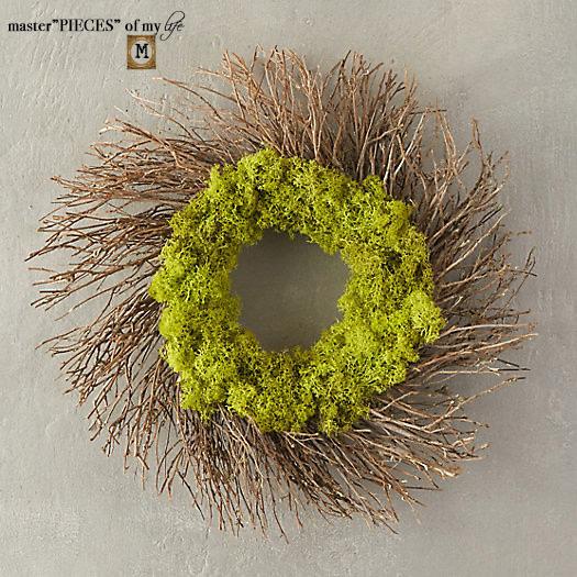 Reindeer moss wreath 4