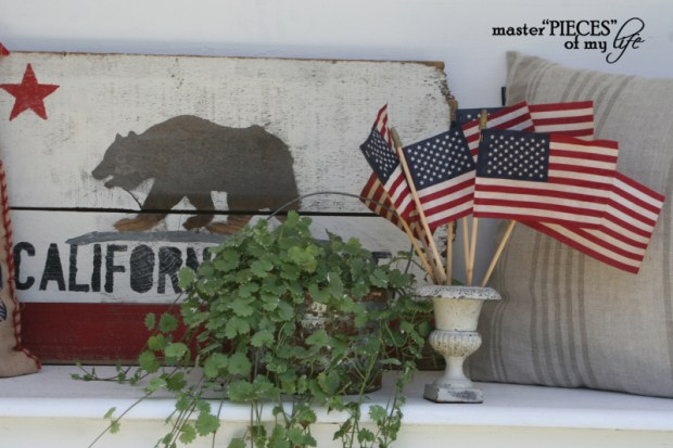 Patriotic decorating detail 3