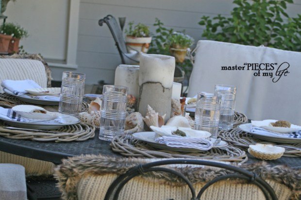 Seashell tablescape 1