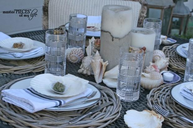 Seashell tablescape 6
