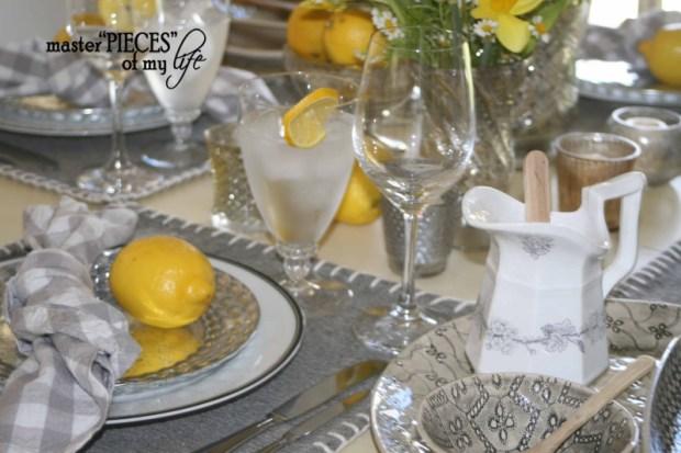 Lemon inspired tablescape7