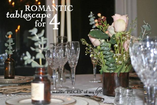 Romantic tablescape for 4