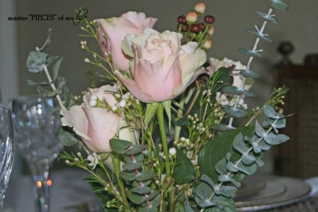Romantic tablescape for 4-5