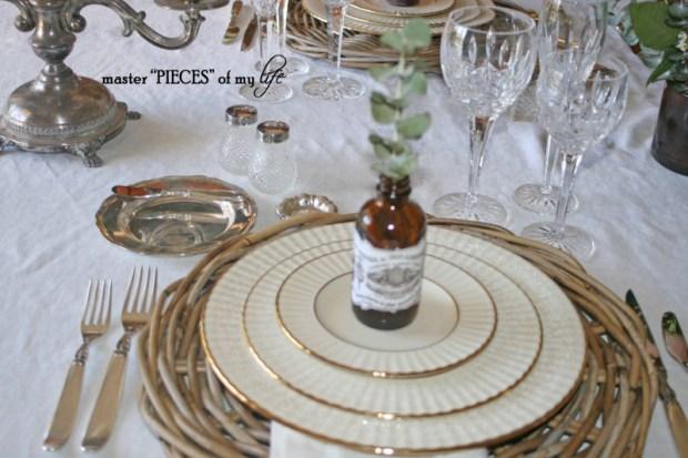Romantic tablescape for 4-8