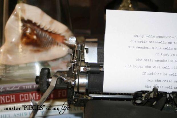 Typerwriter seashells 3
