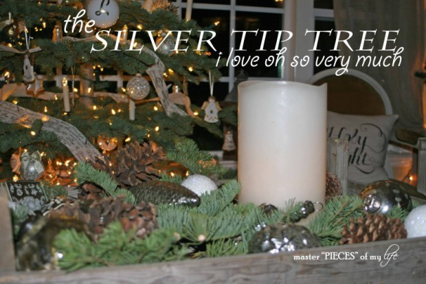 Christmas silver tip tree