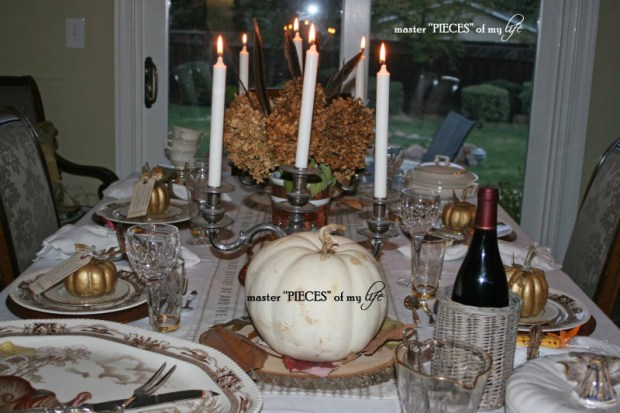 Thanksgiving tablescape mixed metals2