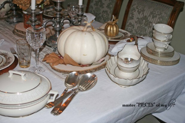 Thanksgiving tablescape mixed metals7