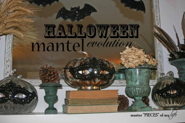 Halloween mantel evolution
