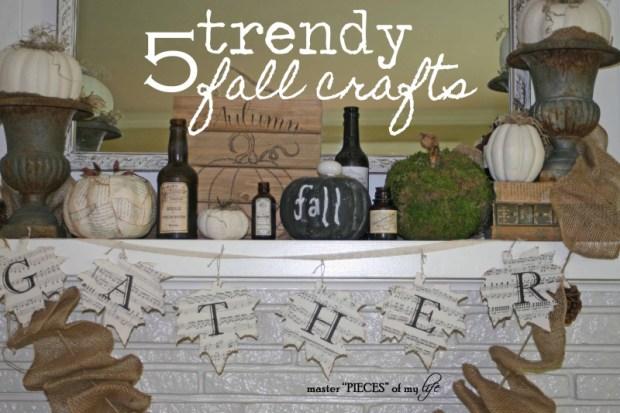 5 fall crafts