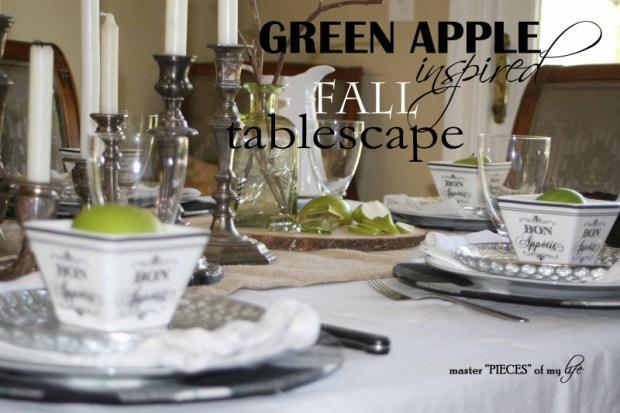 Green apple tablescape