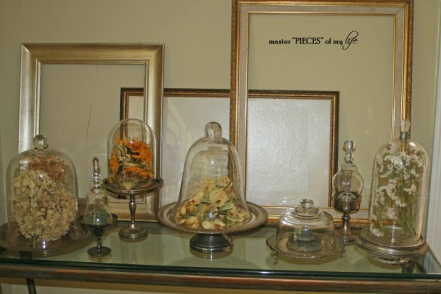 Cloches & dried flowers7