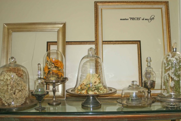 Cloches & dried flowers14