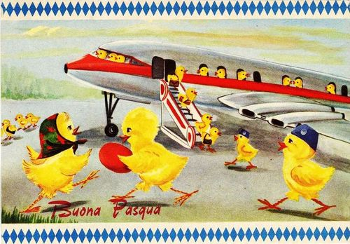 Easter chicks airplane