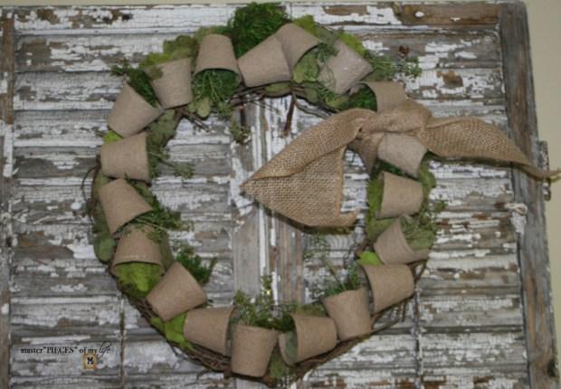 Spring grower pot wreath