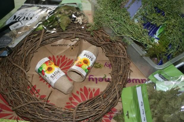 Spring grower pot wreath 3