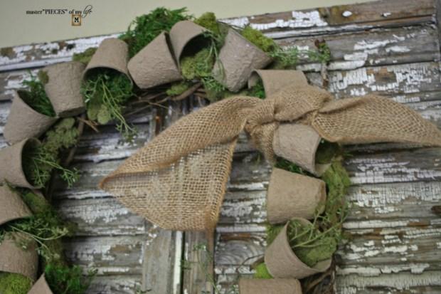 Spring grower pot wreath 6