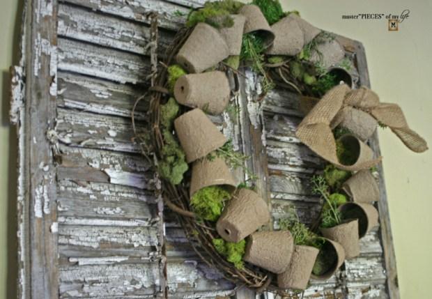 Spring grower pot wreath 8