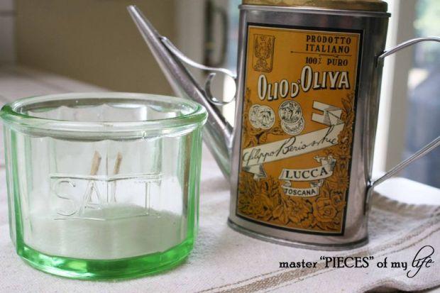 Pasta salt oil