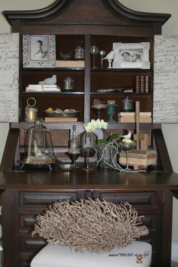 Spring decor on secretary desk 4