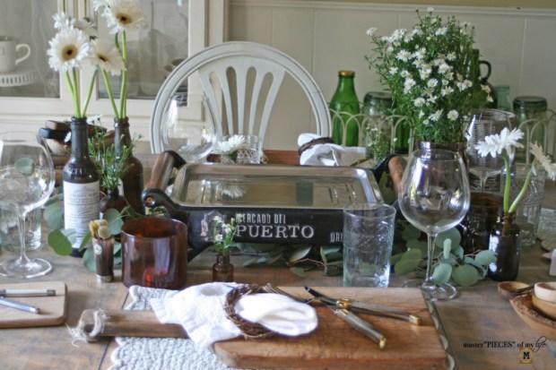 Rustic casual summer tablescape13