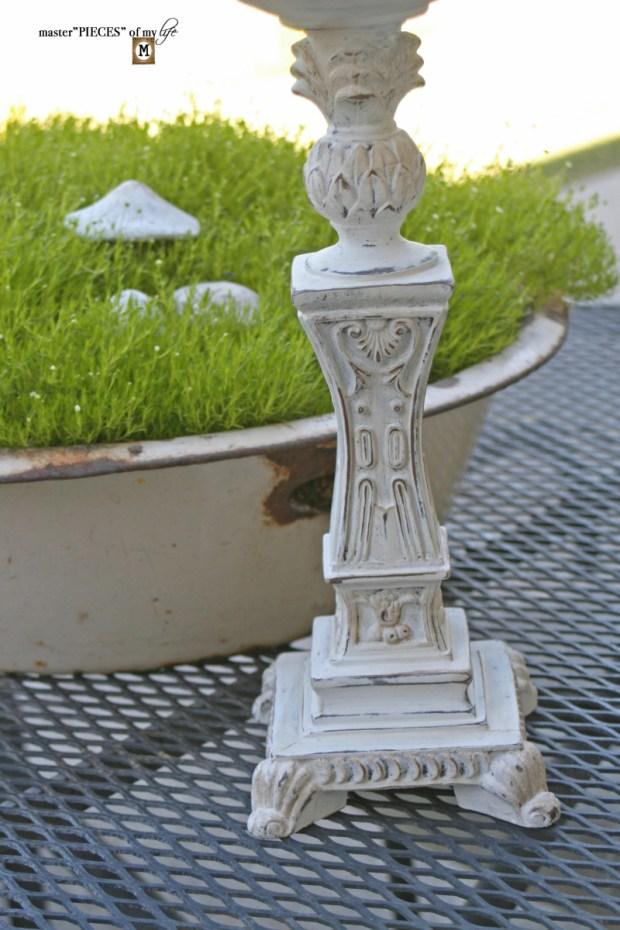Faux cast iron candlestick5