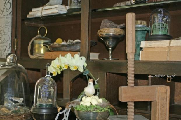 Spring decor on secretary desk 2