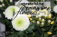 Stretching grocery store flowers