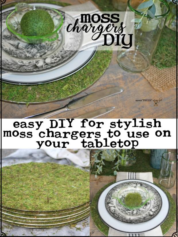 Pinterest moss chargers DIY