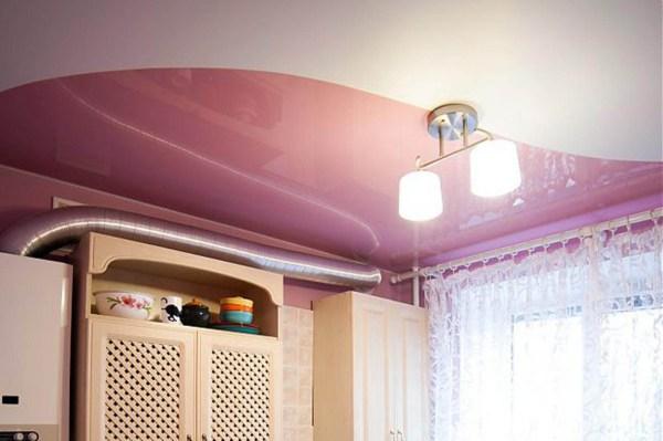 50 фото с примерами интерьеров с двухцветными натяжными ...
