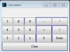 Gui Calculator with python