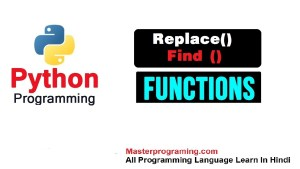 Python String replace() & Find ()