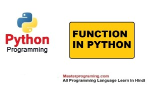function in python with examples in hindi