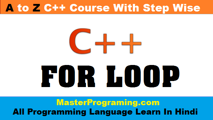 for loop in cpp in hindi