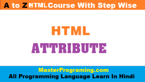 HTML attribute