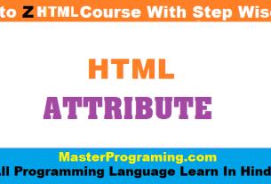 HTML attribute