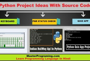 Python Project Ideas In Hindi