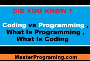 Programming Vs Coding