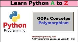 Python Polymorphism