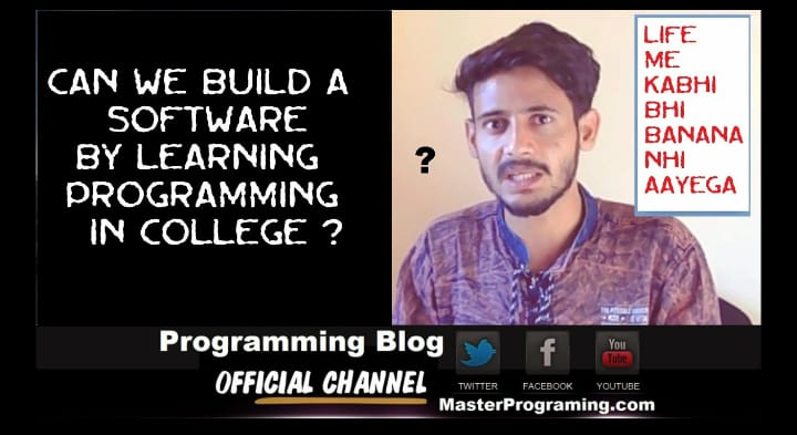 Can We Build A Software By Learning Programing In College