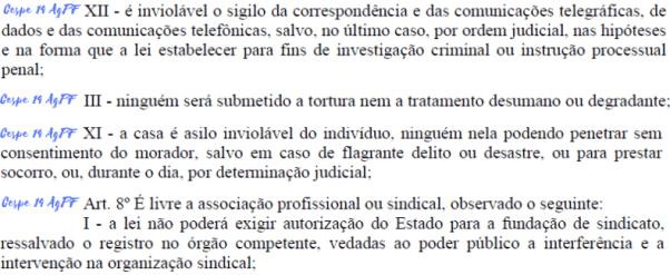 trecho da constituicao cobrado na disciplina de direito constitucional da prova de agente da policia federal de 2014