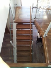 Walnut Cantilevered Stairway