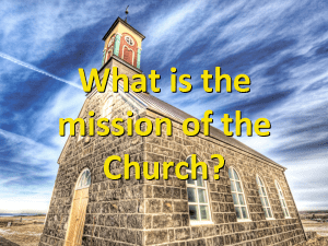 What Are We Doing Here?: Questioning our Methodist Mission