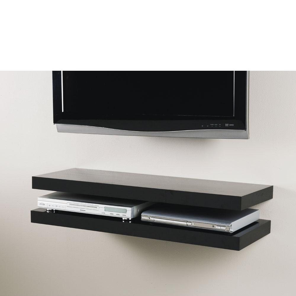 Gloss Black Floating Shelf 900x250x50mm Mastershelf
