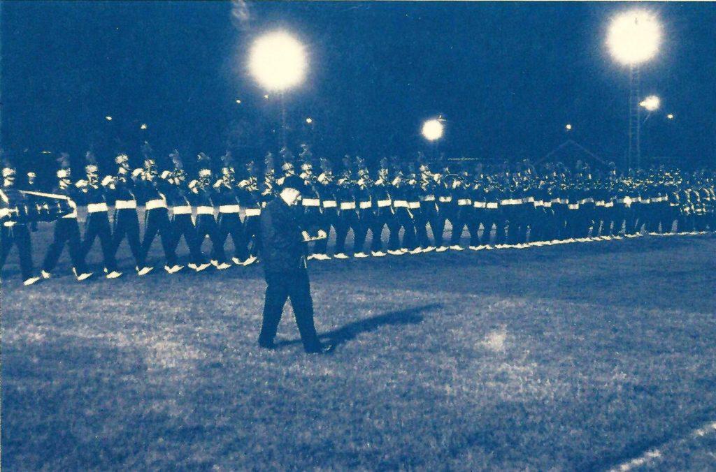 1976 Boston Crusaders performing a company front