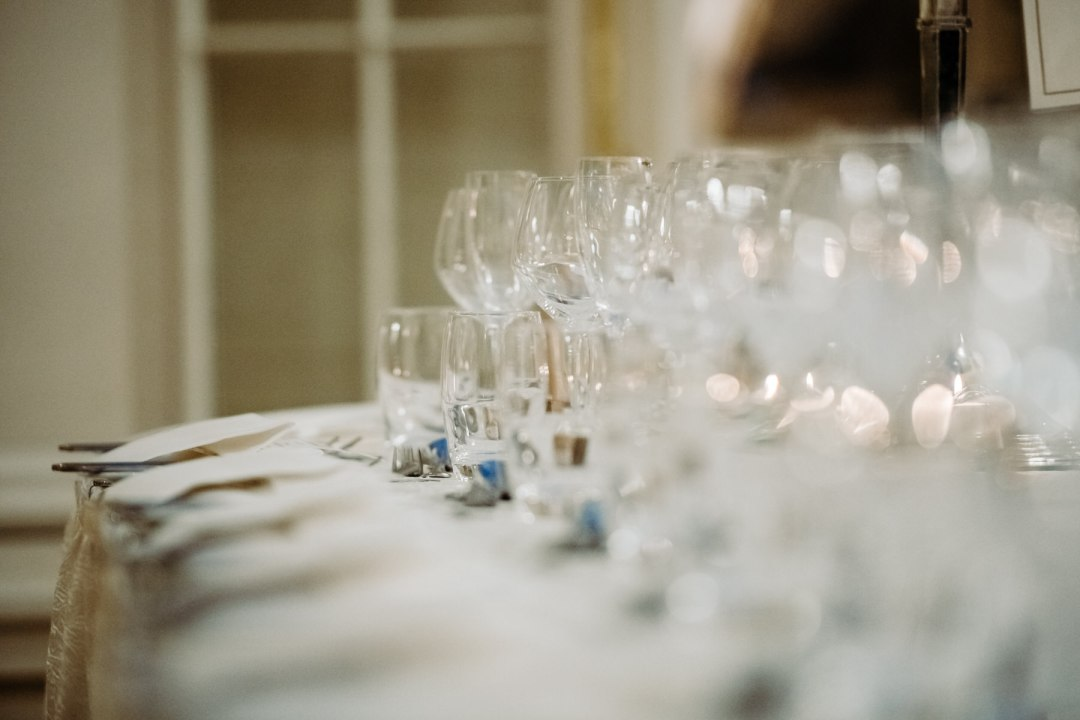 Tankardstown Wedding Photography; Dinner table