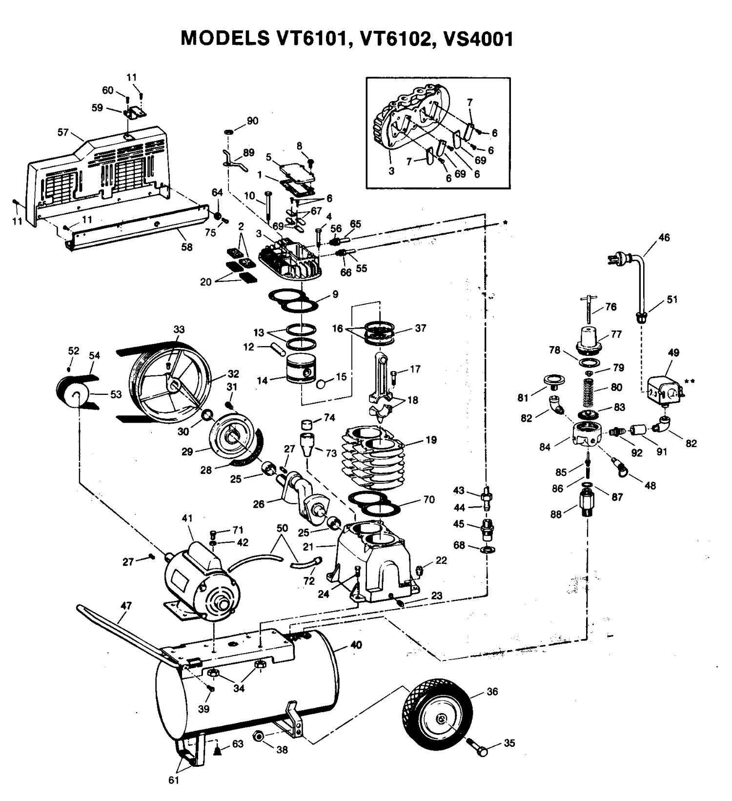 Campbell Hausfeld Vs Amp Vs Aj Air Compressor Parts