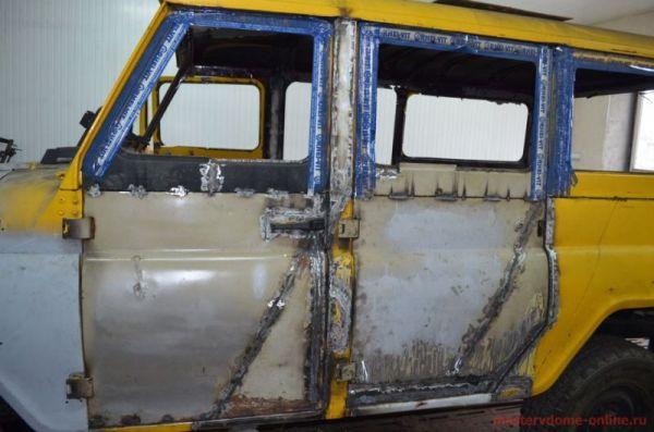 Кузовной ремонт чтобы восстановить рабочее состояние УАЗ 469